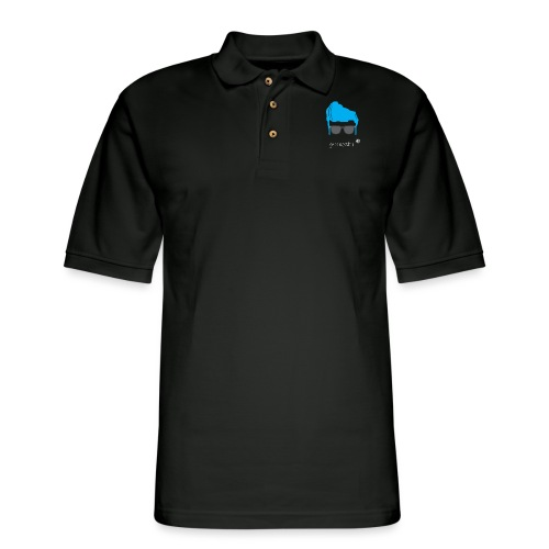 Geo Rockstar (him) - Men's Pique Polo Shirt