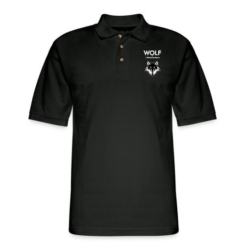 Wolf of Wallstreetbets - Men's Pique Polo Shirt