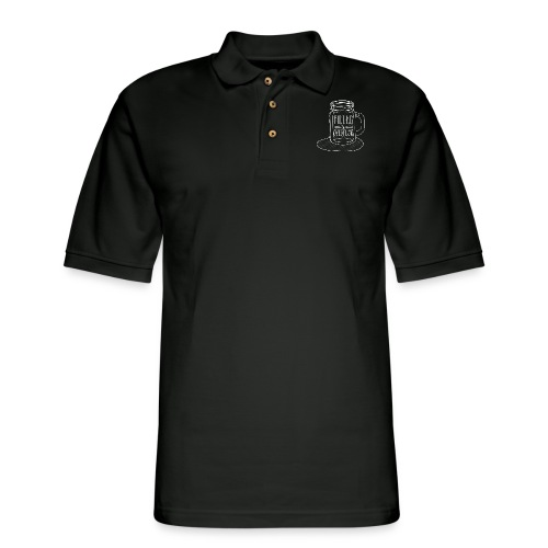 Filled to Overflow White - Men's Pique Polo Shirt