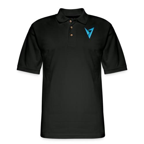 v logo - Men's Pique Polo Shirt