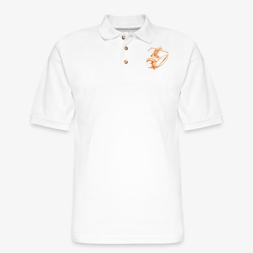 Surfing Skeleton 3a - Men's Pique Polo Shirt
