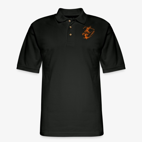 Surfing Skeleton 3a - Men's Pique Polo Shirt