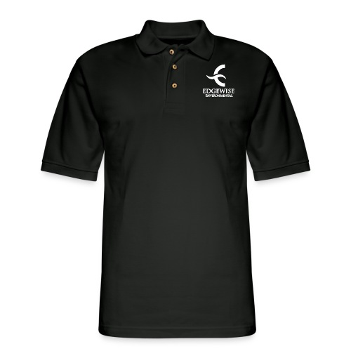 Edgewise Environmental (WHITE LOGO) - - Men's Pique Polo Shirt