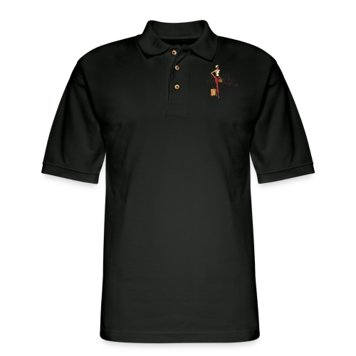BrowOutfitPNG png - Men's Pique Polo Shirt