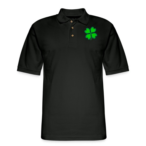 4 leaf clover - Men's Pique Polo Shirt