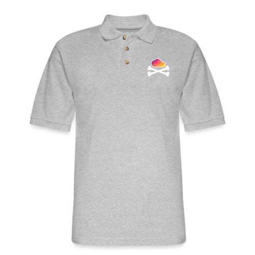New Pirate Cloud in Color - Men's Pique Polo Shirt