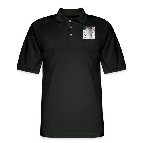 Canis lupus occidentalis - Men's Pique Polo Shirt
