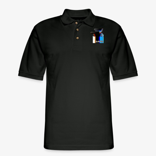 Chroma Glitch - Men's Pique Polo Shirt
