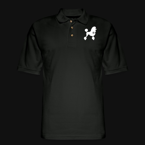 Poodle love - Men's Pique Polo Shirt