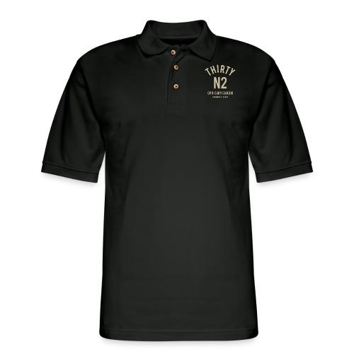 THIRTY N2 for black - Men's Pique Polo Shirt