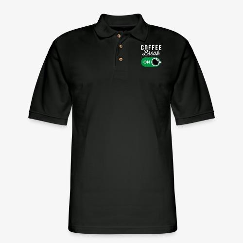 Coffee Break On - Men's Pique Polo Shirt