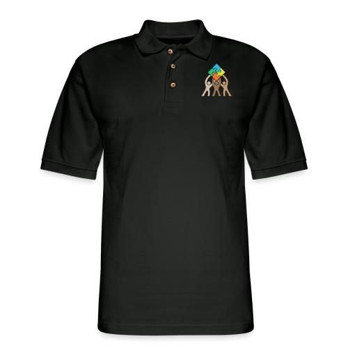 Teamwork and Unity Jigsaw Puzzle Logo - Men's Pique Polo Shirt
