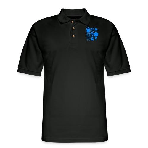 CHOCOLATE - Men's Pique Polo Shirt