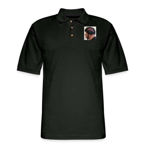 Sleep Exersizer Helmet Model - Men's Pique Polo Shirt