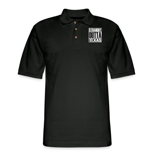 Straight Outta Texas - Men's Pique Polo Shirt