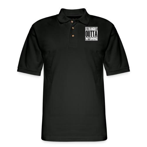 Straight Outta Wyoming - Men's Pique Polo Shirt