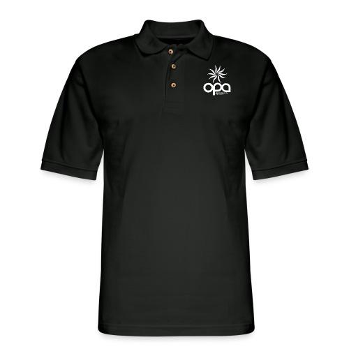 Short Sleeve T-Shirt with small all white OPA logo - Men's Pique Polo Shirt