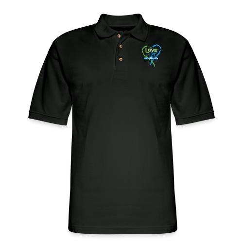 Down Syndrome Love (Blue) - Men's Pique Polo Shirt