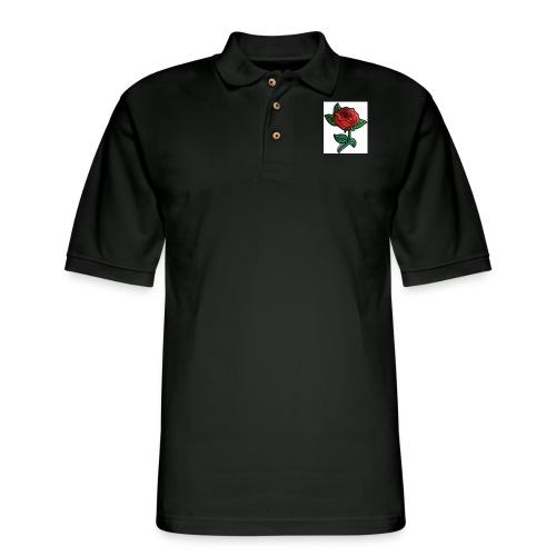 t-shirt roses clothing🌷 - Men's Pique Polo Shirt
