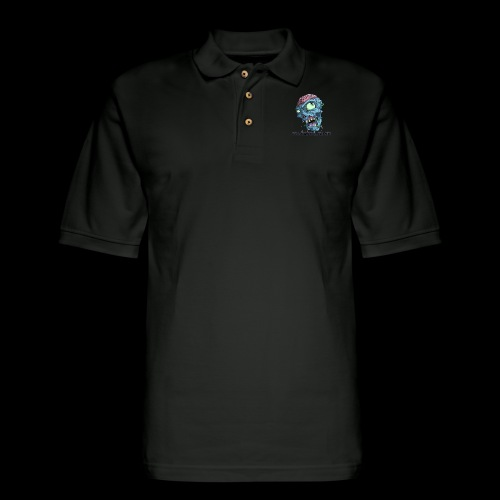 DHS dark logo - Men's Pique Polo Shirt
