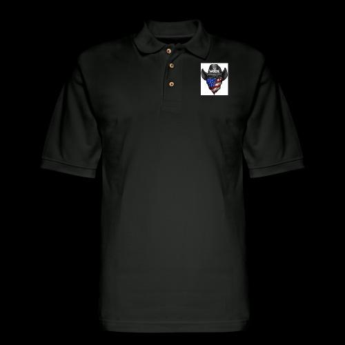 Eye rock cowboy Design - Men's Pique Polo Shirt