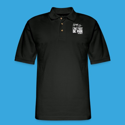 The Scarred - Live Fast Die Poor - Boombox shirt - Men's Pique Polo Shirt