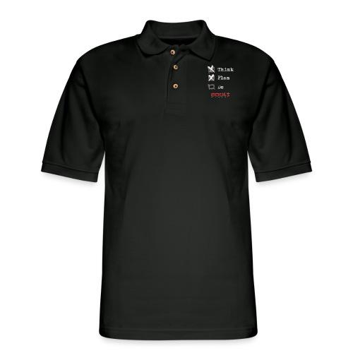 0116 Think Plan Do - Men's Pique Polo Shirt