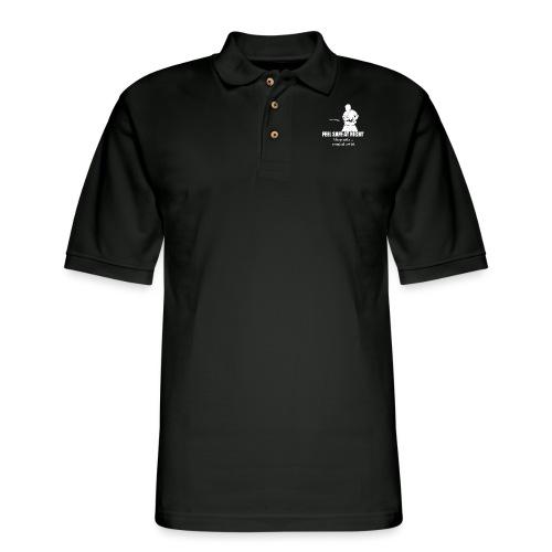 Feel safe male LS - Men's Pique Polo Shirt