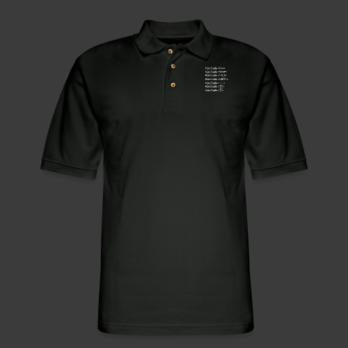 Include List (Dark Background) - Men's Pique Polo Shirt