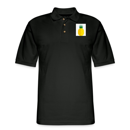 Pixel looking Pineapple - Men's Pique Polo Shirt