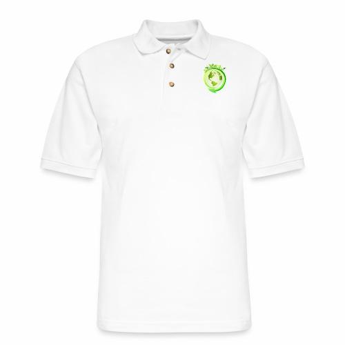 Earth Globe : World Ecology/Earth Day/Green World - Men's Pique Polo Shirt