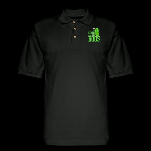 Gimme all the BOOS Ghost | Halloween Party Drink - Men's Pique Polo Shirt