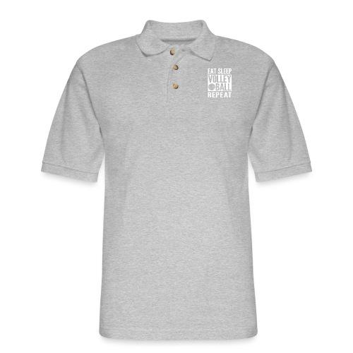 Eat Sleep Volleyball Repeat - Men's Pique Polo Shirt
