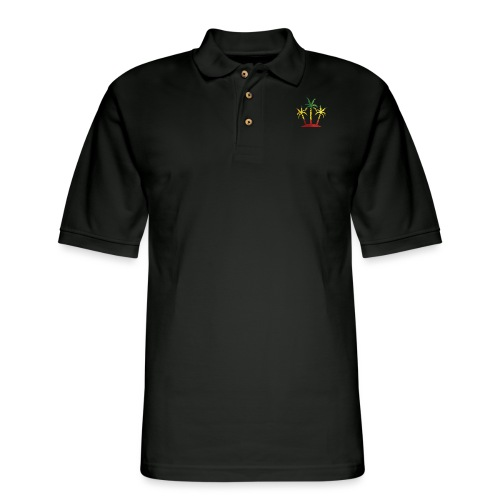 Palm Tree Reggae - Men's Pique Polo Shirt