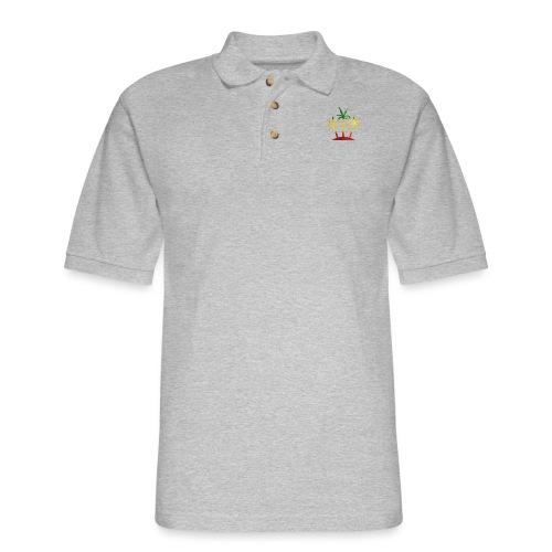 Palm Tree Reggae - Men's Pique Polo Shirt