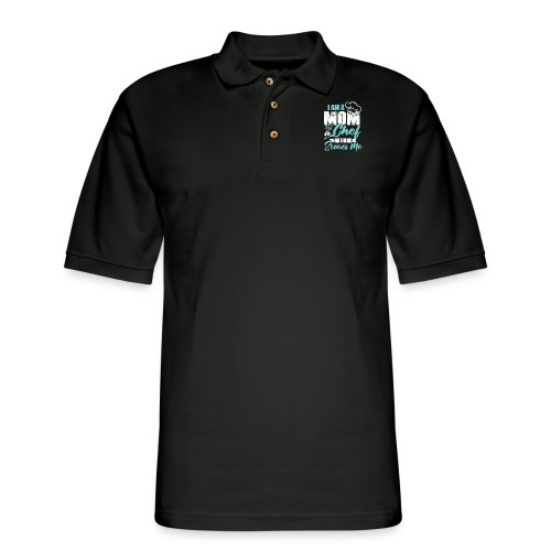 I'm a Chef and a Mom Nothing Scares Me Funny Chef - Men's Pique Polo Shirt