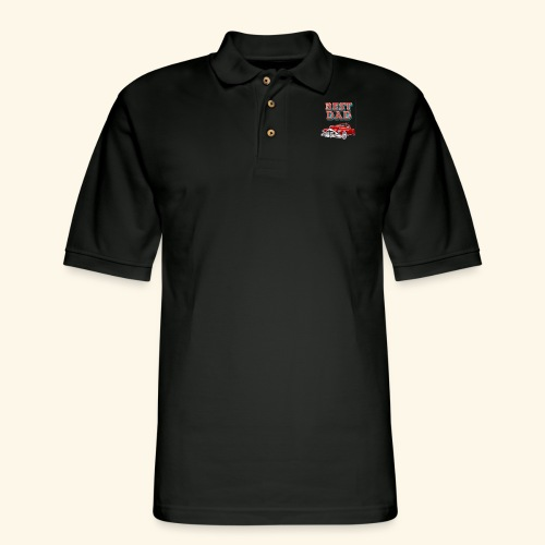 Best Dad Classic Car Design Fathers Day - Men's Pique Polo Shirt