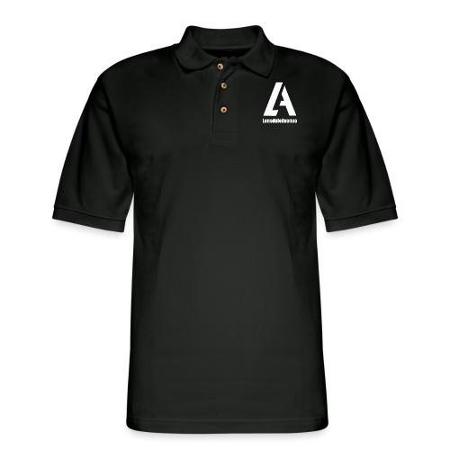 Lonsdale Avenue Logo White Text - Men's Pique Polo Shirt