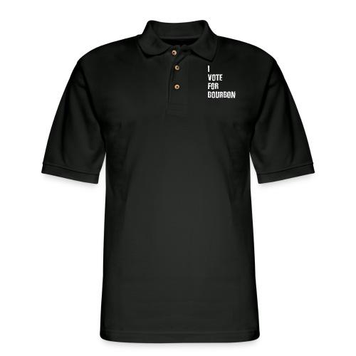 I Vote For Bourbon - Men's Pique Polo Shirt