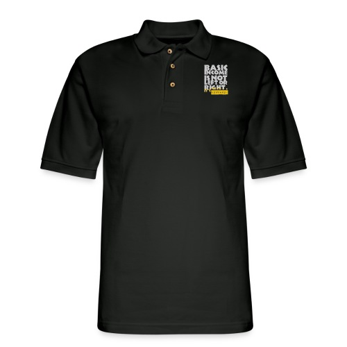 UBI is not Left or Right - Men's Pique Polo Shirt