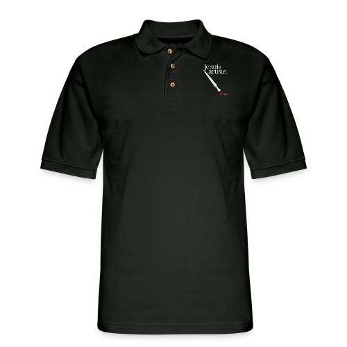 je suis artiste - Art is Power. - Men's Pique Polo Shirt