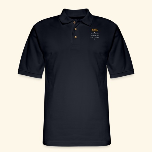 Papa the man the myth the legend - Men's Pique Polo Shirt