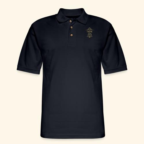 Papa the man the myth the legend - 2 - Men's Pique Polo Shirt
