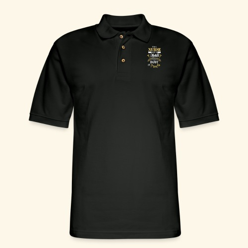I'm a nurse and a mother - Men's Pique Polo Shirt