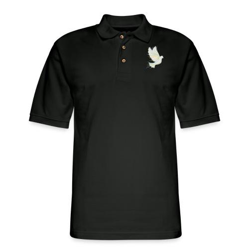 Flying dove - Men's Pique Polo Shirt