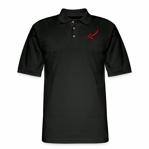 Clickbait arrow - Men's Pique Polo Shirt