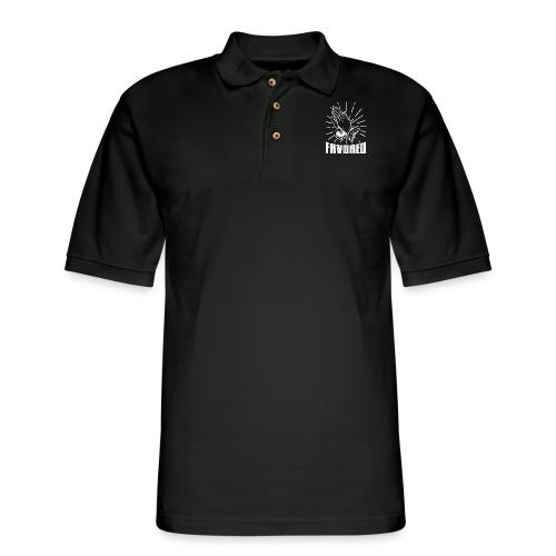 Favored - Alt. Design (White Letters) - Men's Pique Polo Shirt