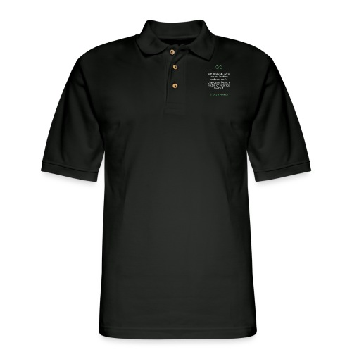 T Shirt Quote We find that living in a civilizati - Men's Pique Polo Shirt