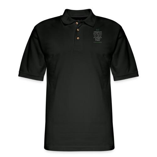 T Shirt Quote Nothing prevents Steven Pinker - Men's Pique Polo Shirt