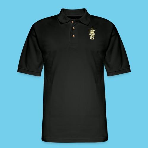 I Can't Keep Calm, I'm an Army Mom - Men's Pique Polo Shirt